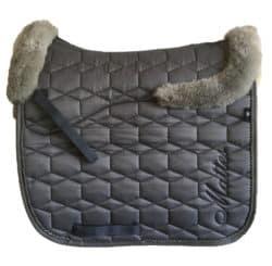 mattes sadel underlag grå lammeskind