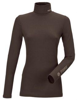 pikeur rullekrave bluse brun sina